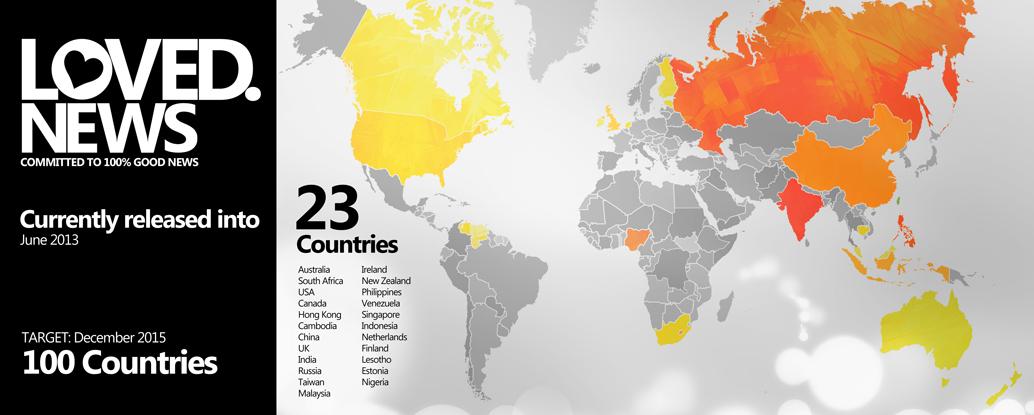 LovedNews WorldMap - web